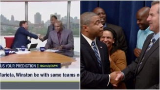 Stephen A., Booger, And Mike Greenberg Accidentally Recreated The Obama Dap Sketch From 'Key & Peele'