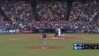 Insane Video Shows Dodgers And Padres Playing Though 7.1 Southern California Earthquake