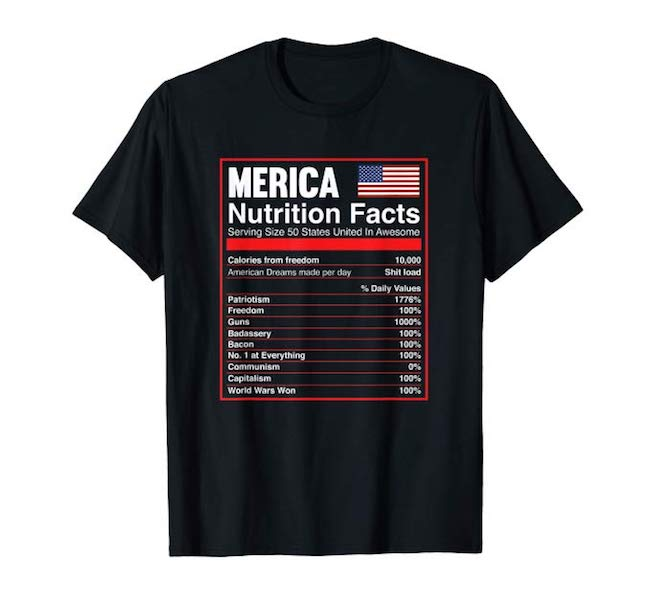 merica nutrition facts hat