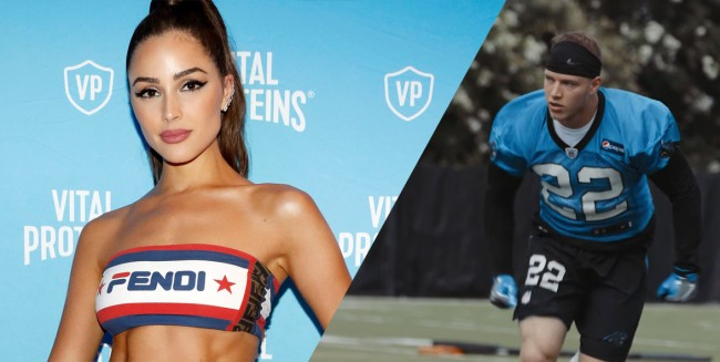 Olivia Culpo Cheers Christian McCaffrey As He Strips On Cabo Vacation