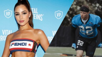 Olivia Culpo Cheers On Christian McCaffrey As He Strips Off His Shirt On Vacation In Cabo