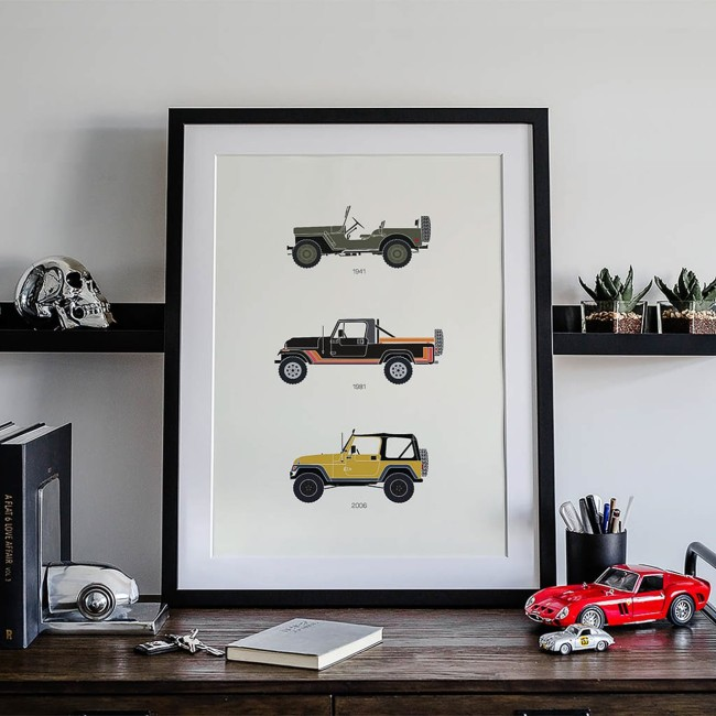 Rearview Prints Classic Car Posters