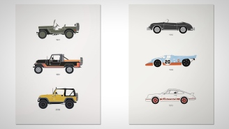 Class Up Your Man Cave With These 4 Vintage Car Posters