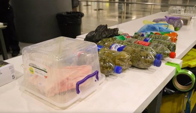 smuggled food airport