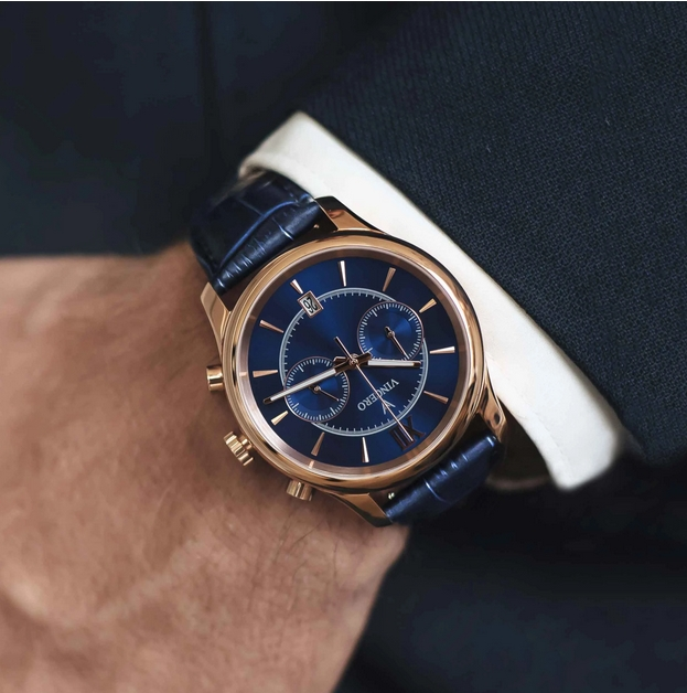 The Bellwether Rose Gold and Blue