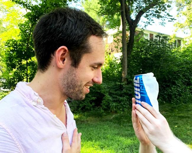 man marries keystone light can