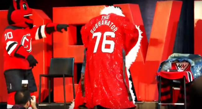 The New Jersey Devils Welcomed PK Subban With An Epic Ric Flair Robe