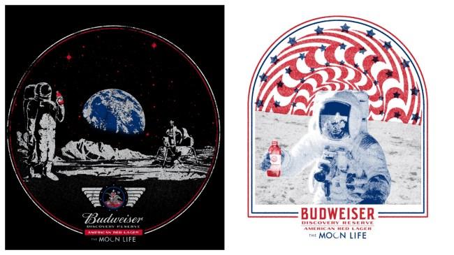 things we want Budweiser moon landing shirts