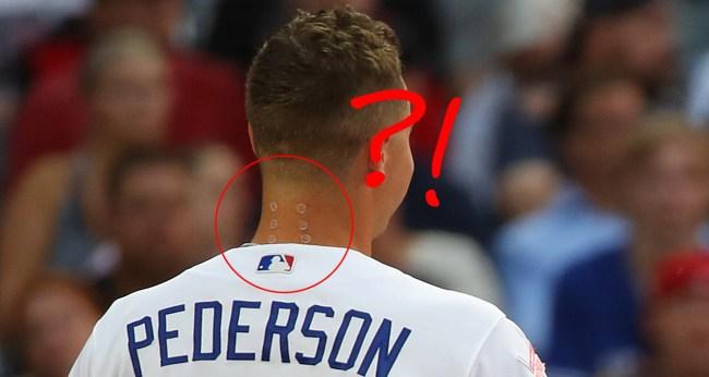 Twitter Wondered What Was On Joc Pederson Neck During Home Run Derby