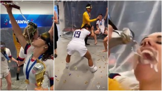 We Can Confirm That The USWNT Postgame Celebrations Are Absolutely Lit