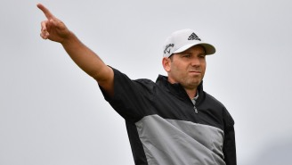Video Emerges Of Sergio Garcia Throwing His Driver At His Caddie During The Open After A Bad Shot