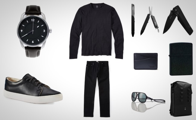 everyday carry accessories for men all black