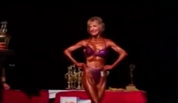 76-year-old female bodybuilder and grandmother Janice Lorraine flaunts fit physique on Australia's Got Talent and wows AGT judges.