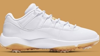 Nike Golf Releasing Another New Air Jordan 11 Low In A White And Gold Colorway That Are Absolute Fire