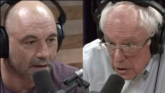Bernie Sanders goes on Joe Rogan Experience podcast and said he would promise to tell American people about aliens and UFOs if elected President of the United States.