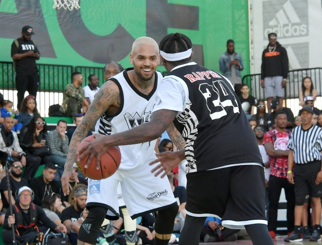 Metta World Peace says rapper Chris Brown has the basketball skills to have played in the NBA hd he pursued it