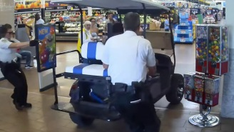 Florida Man Drives Golf Cart Into Walmart, Hits People, Crashes Into A Register, Demands To Speak To A Manager