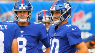 Eli Manning And Daniel Jones Celebrate Fourth Win Of The Season With Unsurprisingly Awful Postgame Flip Cup Game At NJ Dive Bar