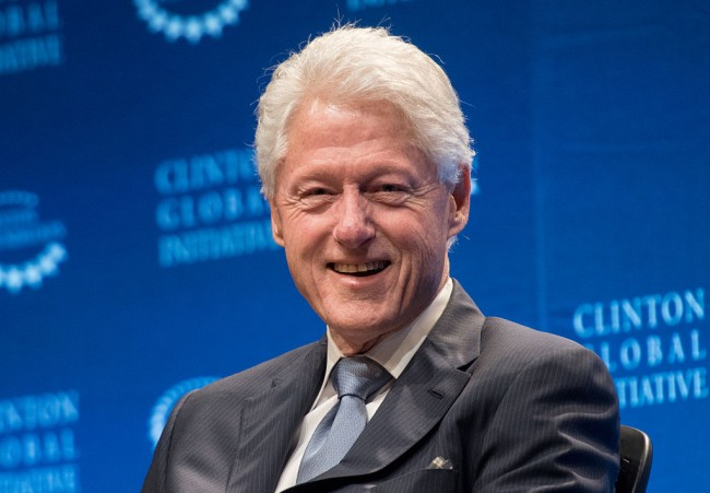 Convicted pedophile Jeffrey Epstein had a painting of President Bill Clinton wearing a blue dress and red heels hanging inside his Manhattan home.