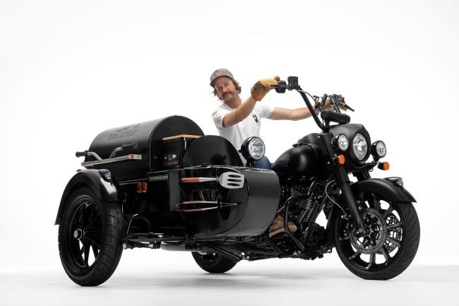 Indian Motorcycles Traeger Grills Custom Bike