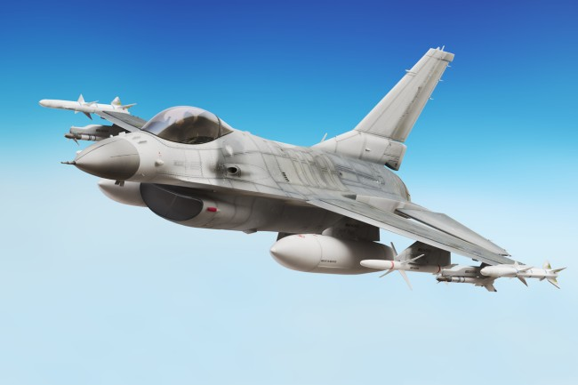 F-16 Fighting Falcon fighter jet available for the price of $8.5 million from seller in Palm Beach, Florida.