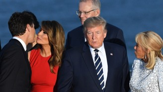 Melania Trump Looking Like She's Ready To Risk It All For Justin Trudeau Leads To A Multitude Of Memes