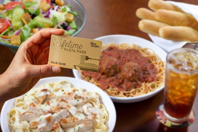 Olive Garden Lifetime Pasta Pass