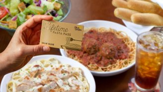 Olive Garden Is Selling A 'Never Ending Pasta For Life' Pass But You'll Have To Hustle To Grab One Before They're Gone