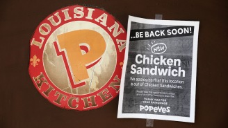 Of Course A Chick-fil-A Worker Was Spotted Handing Out Sandwiches To Popeyes Employees