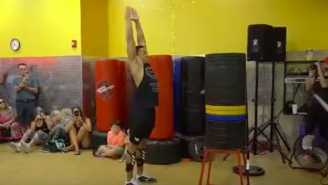 Former College Football Player Shatters World Record In The Standing High Jump, Needs To Be Checked For A Jetpack