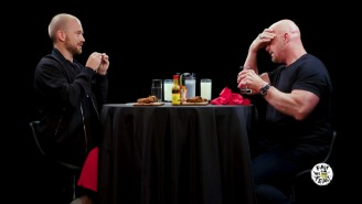 Steve Austin Almost Didn't Survive The 'Hot Ones' Challenge: 'These Aren't Laced With Amphetimines Are They?'