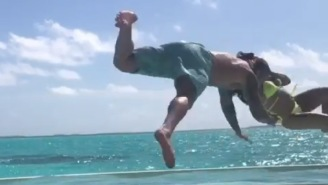 Watch 13-Time WWE Champion Randy Orton Get RKO'd Outta Nowhere By His Wife Kim While On Vacation