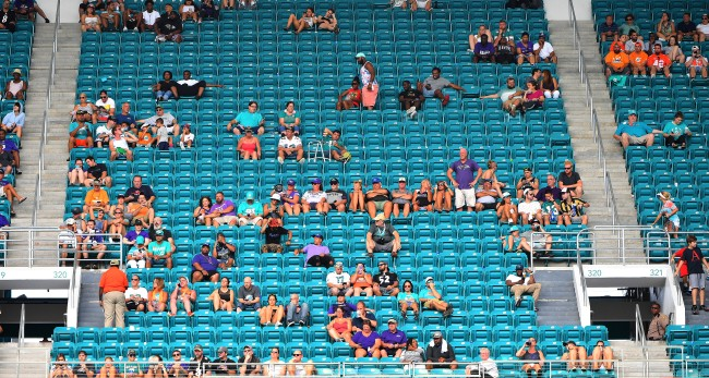 Attendance At The Dolphins Game Versus The Ravens Was Embarrassing