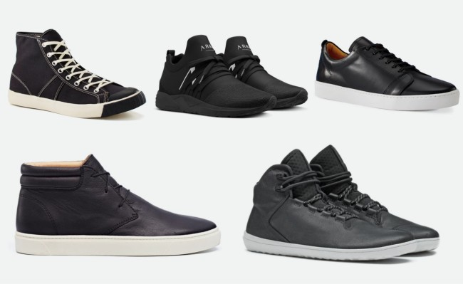 best men's black sneakers and shoes September 2019