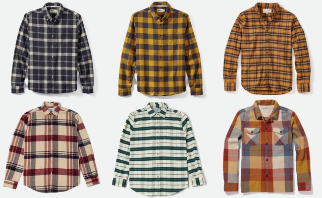 best men's flannel shirts Fall 2019