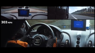 Ride Along Inside A Bugatti Chiron As It Becomes The First Hypercar To Break The 300-MPH Barrier