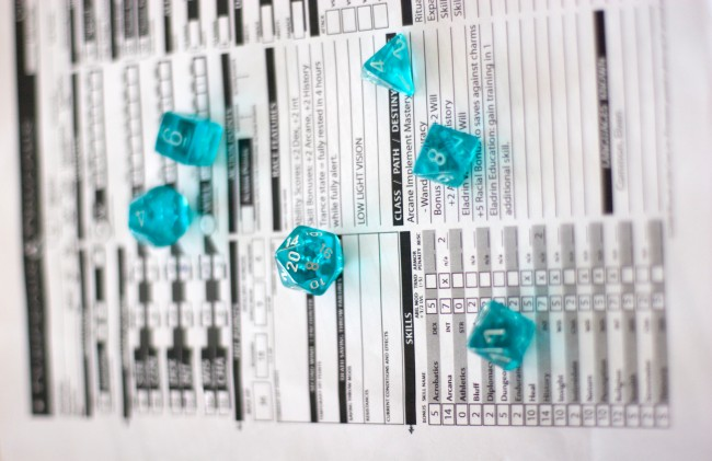 Dungeons & Dragons Character Sheet And Dice (How I Roll)