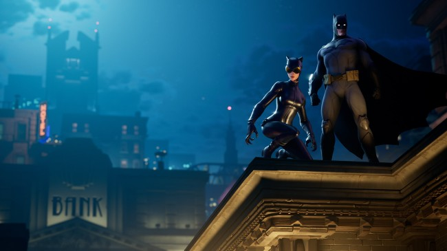 Fortnite introduces new Gotham City episode and offers new Fortnite skins including Catwoman and a Batman Caped Crusader Pack found in the Fortnite Store.