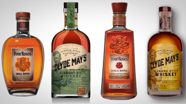 four roses and clyde may's whiskeys