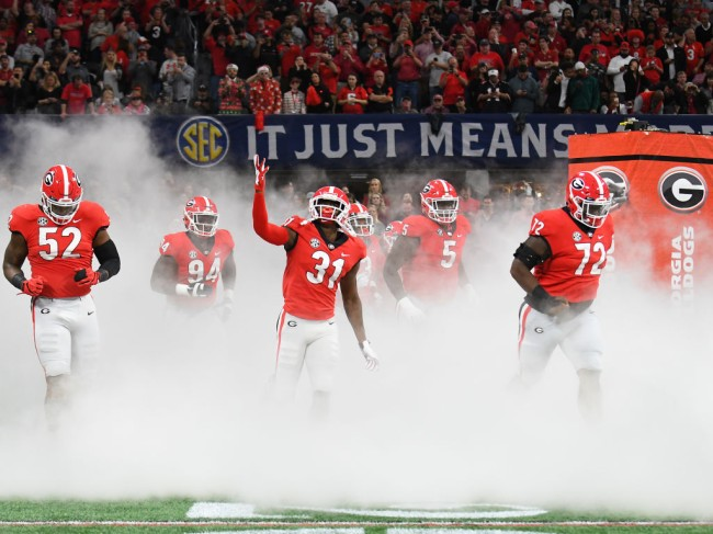 how big is georgia's offensive line