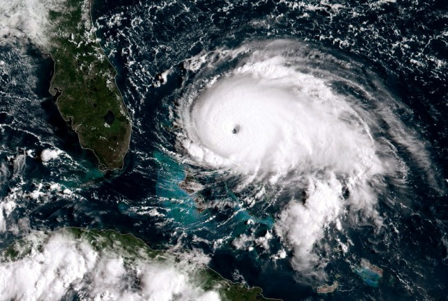 Hurricane Dorian catastrophic Category 5 storm, heading to Florida and Carolinas, the strongest and most powerful hurricane to ever hit the Bahamas.