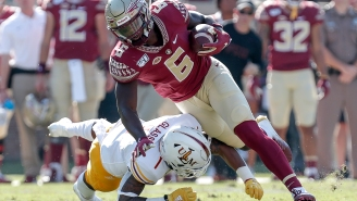 FSU Tight End Explains Why He Was Lined Up Facing Backwards In A Play That Got Dragged By Everyone