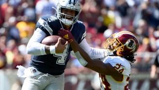 Dak Prescott Responds To Josh Norman's Pre-Game Depreciating Comments After Torching Redskins Defense