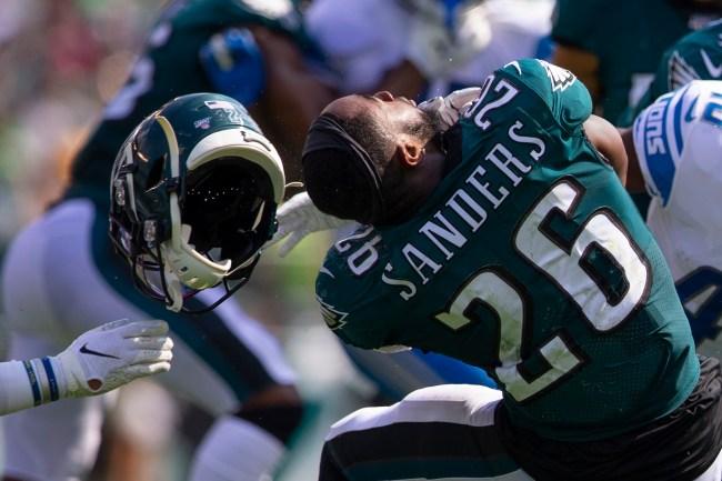 Miles Sanders Philadelphia Eagles Facemask