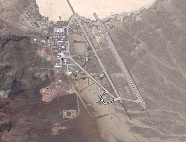 Alien-hunter Scott Waring used Google Earth to find UFO at Area 51 Air Force base in Nevada.