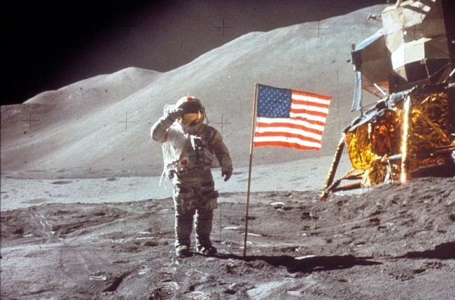 New conspiracy theory suggests video from July 26, 1971, of the Apollo 15 mission to the moon shows alien structures.