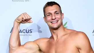 A Completely Shredded Gronk Spent Sunday Shirtless Leading A Workout In Boston With His Girlfriend