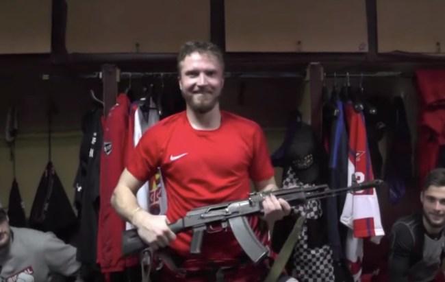 Izhstal Izhevsk Russian Hockey Team AK-47 Player of the Game award