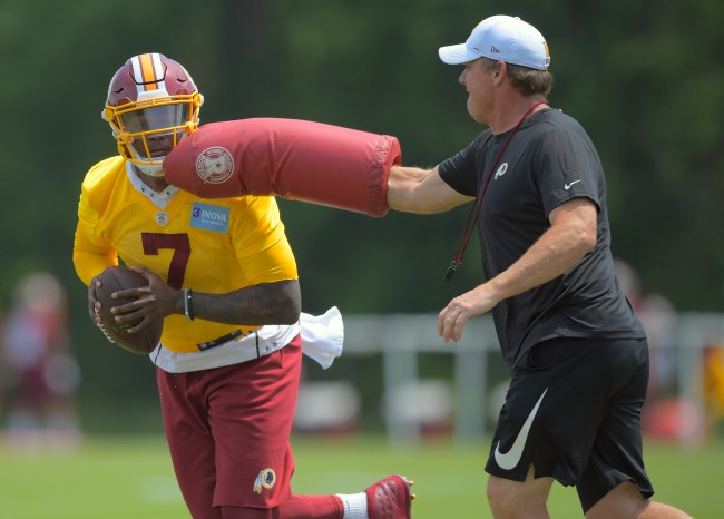 Jay Gruden seemed to accidentally trash rookie QB Dwayne Haskins while explaining why he won't start