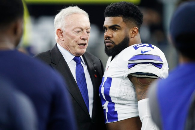 Cowboys owner Jerry Jones thinks Ezekiel Elliott dancing around and spanking himself is an 'asset' to the Cowboys